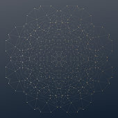 Abstract polygonal low poly backdrop with connecting dots and lines