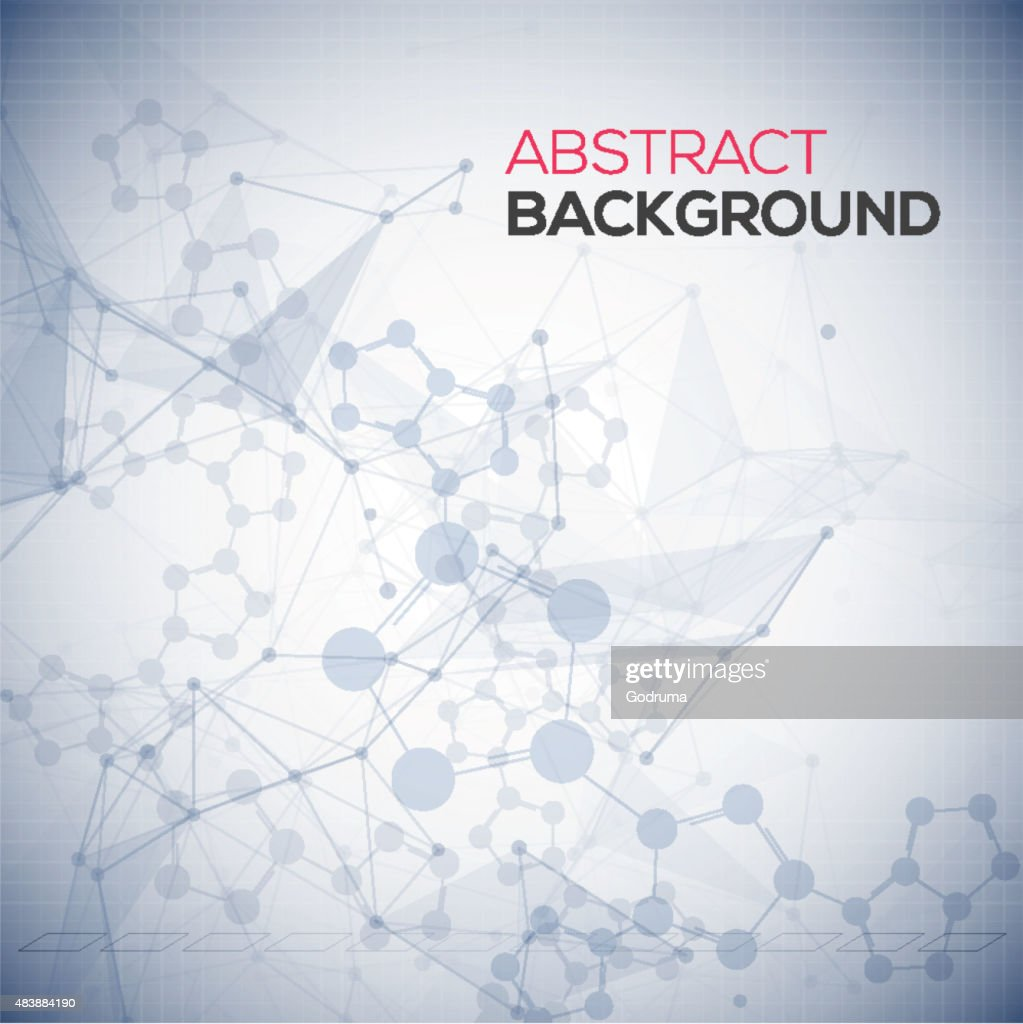 Abstract polygonal low poly background with connecting dots