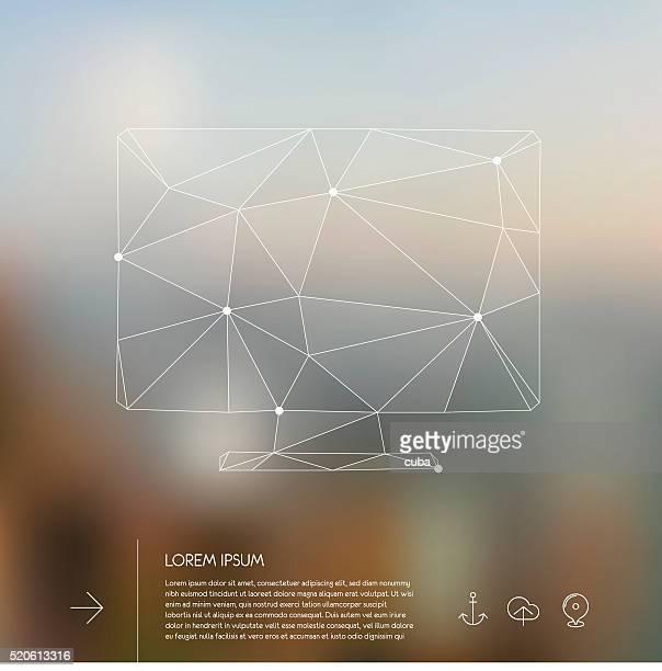 Abstract polygonal monitor