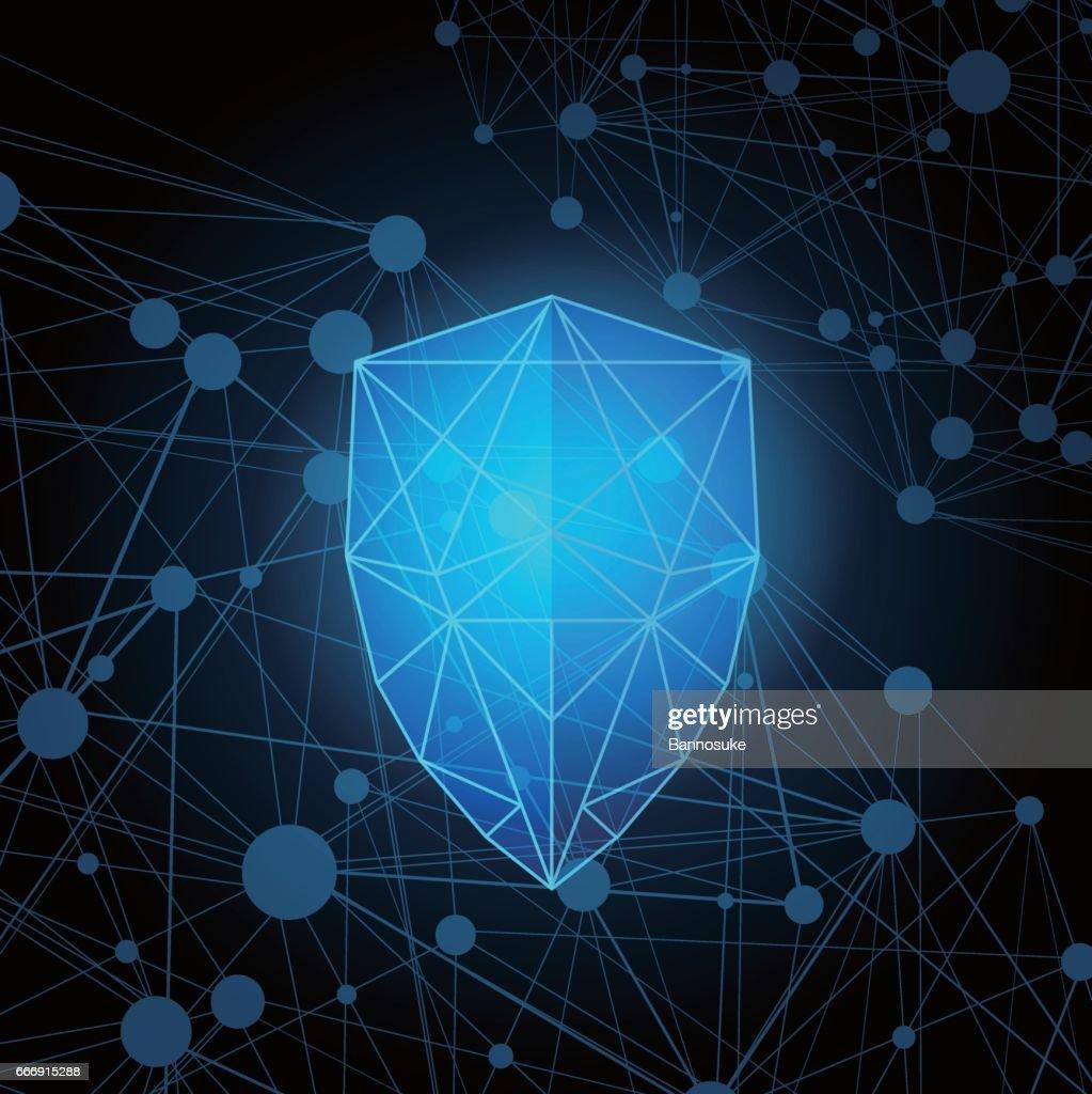 Abstract polygonal protection shield