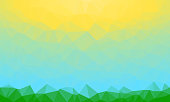 Abstract Polygonal Triangle Background.Abstract Polygonal Triangle Background. Vector Polygon which consist of triangles. Geometric background in Origami style. Geometric background in Origami style. Background with sunrise shining.