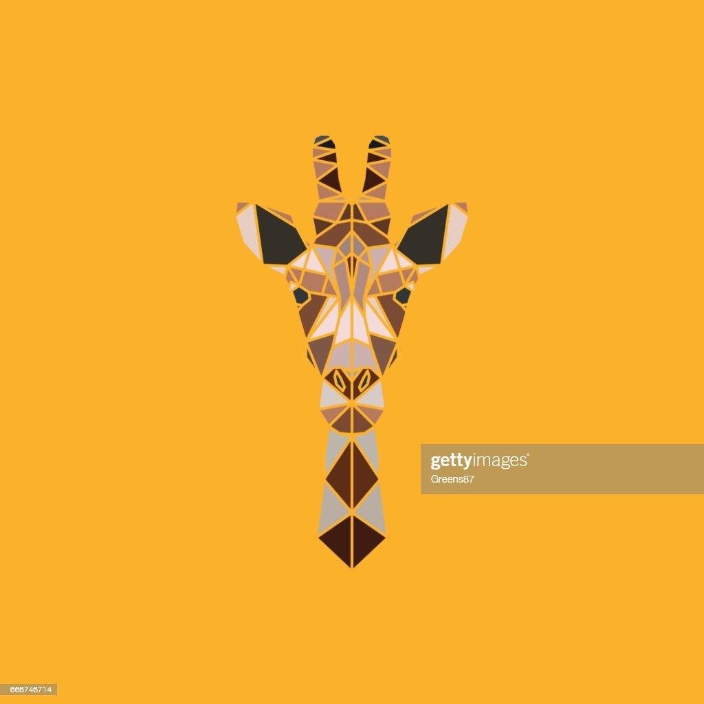 Abstract polygonal triangle giraffe.