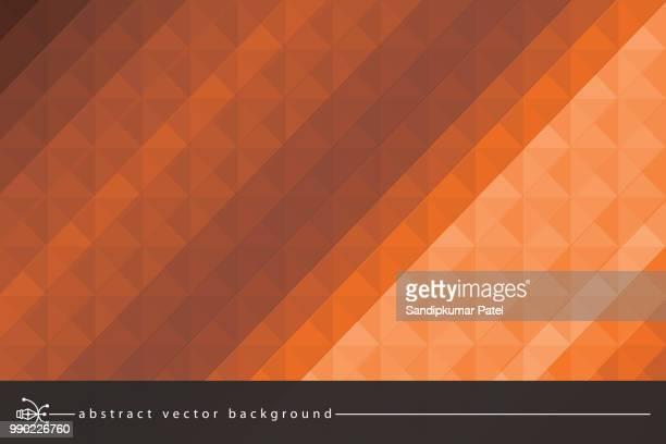 illustrations, cliparts, dessins animés et icônes de fond abstrait polygonales triangles - fond orange