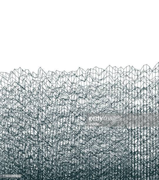 abstract polygonal wave wireframe background - vertical stock illustrations, clip art, cartoons, & icons