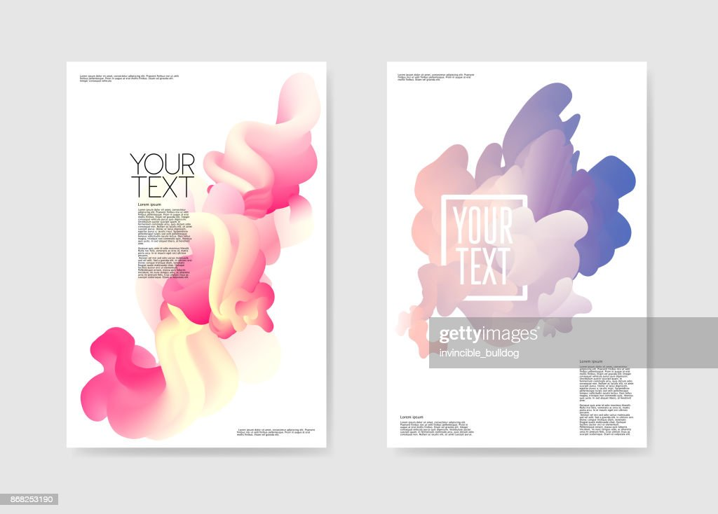 Abstract Poster Liquid Background. Fluid Shapes Brochure Template. Banner Identity Card Cover Design. Vector illustration