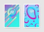 Abstract Poster Liquid Background. Fluid Shapes