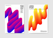 Abstract Poster Wavy Background. Fluid Shapes Brochure Template. Banner Identity Card Design. Vector illustration