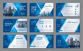 Abstract Presentation Templates, Abstract Geometric Blue Triangle Background vector