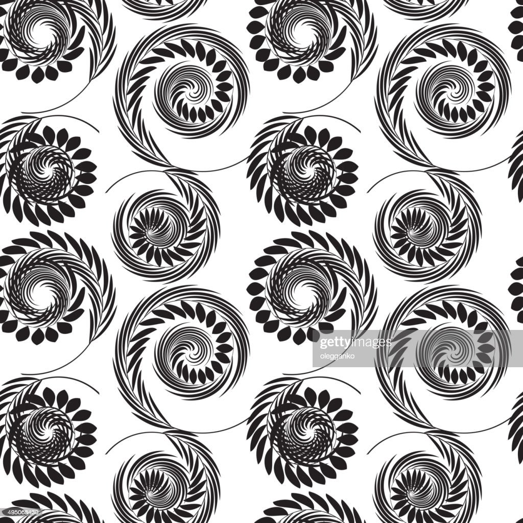 Abstract Psychedelic Art Background. Vector Illustration. Seamle