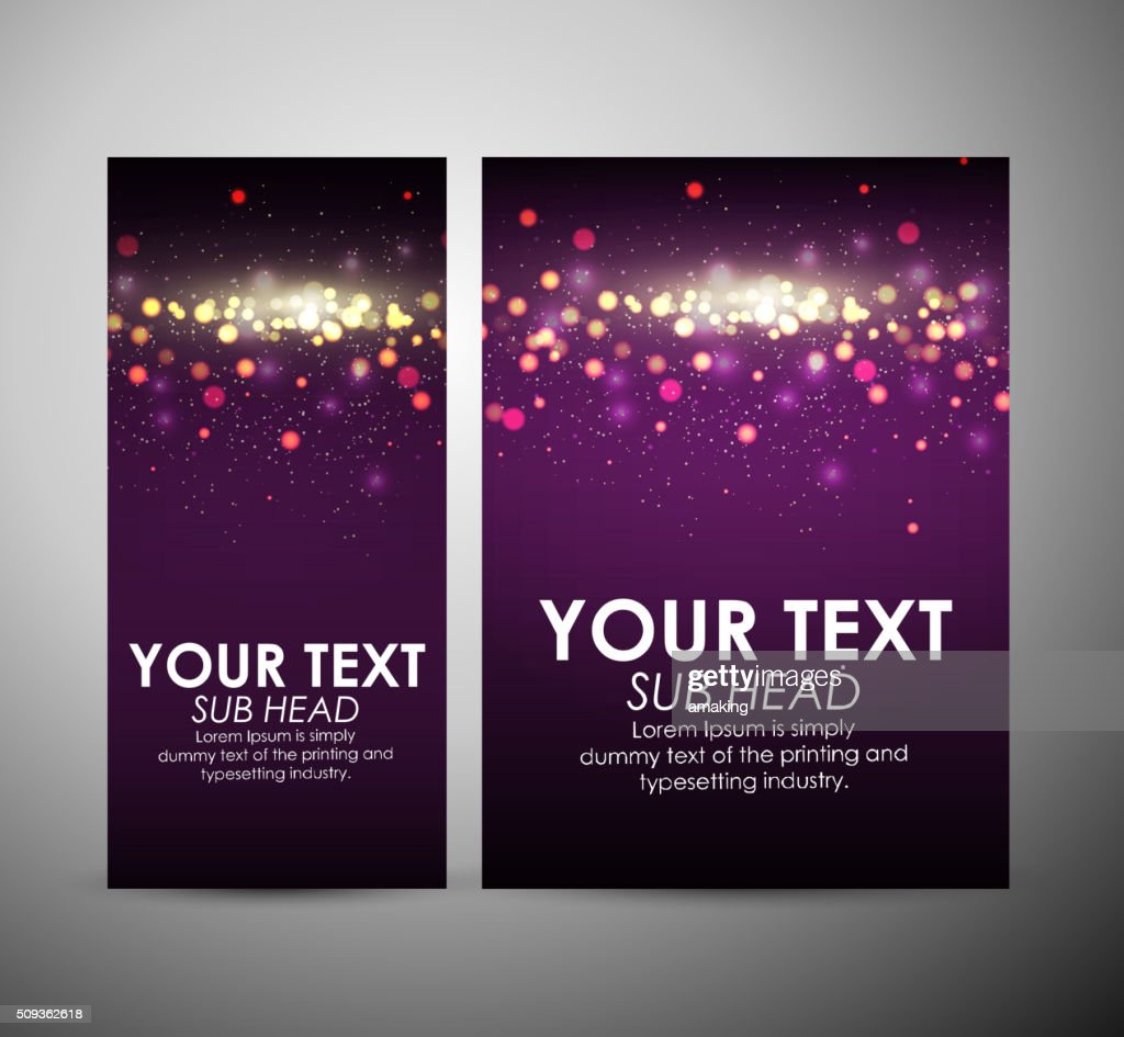 Abstract Purple Bokeh Graphic Resources Design Template Or Roll Up