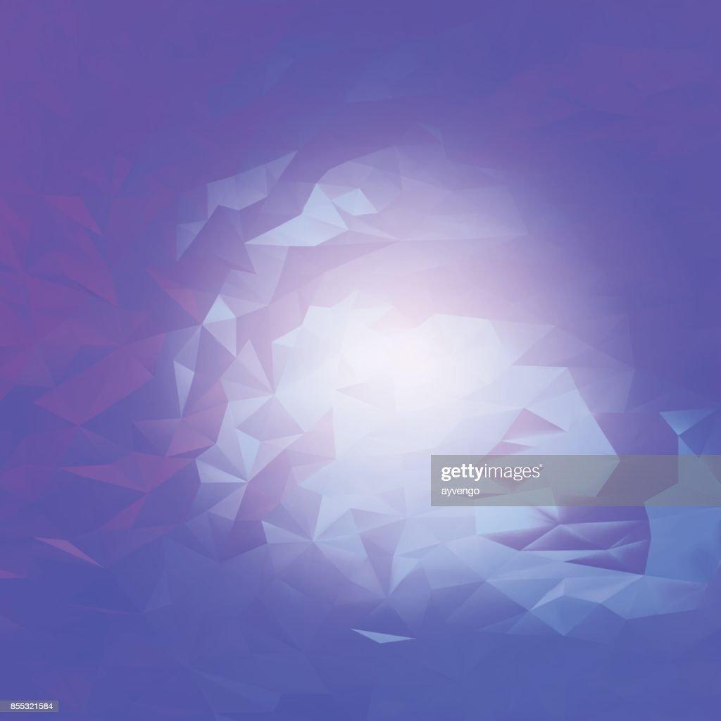 Abstract purple mystical futuristic art