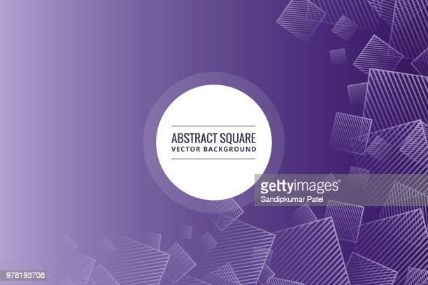 abstract purple square shape background - asymmetry stock illustrations
