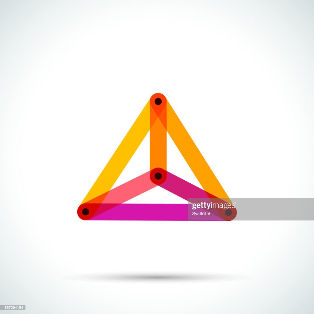 Abstract Pyramid Symbol With Intersecting Transparent Lines Vector