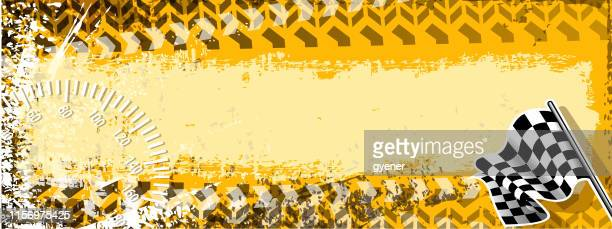 abstract racing banner - go carting stock illustrations, clip art, cartoons, & icons