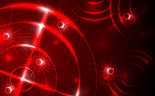 Abstract Radar, Target, Shooting Range Digital Technology Concept Background