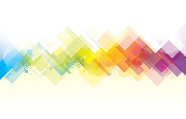 abstract rainbow background - rainbow stock illustrations