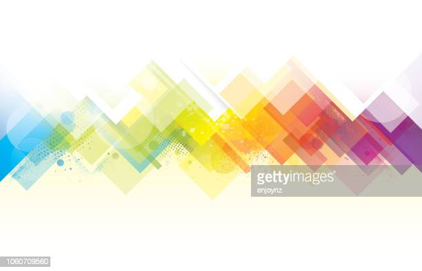 abstract rainbow background - abstract backgrounds stock illustrations