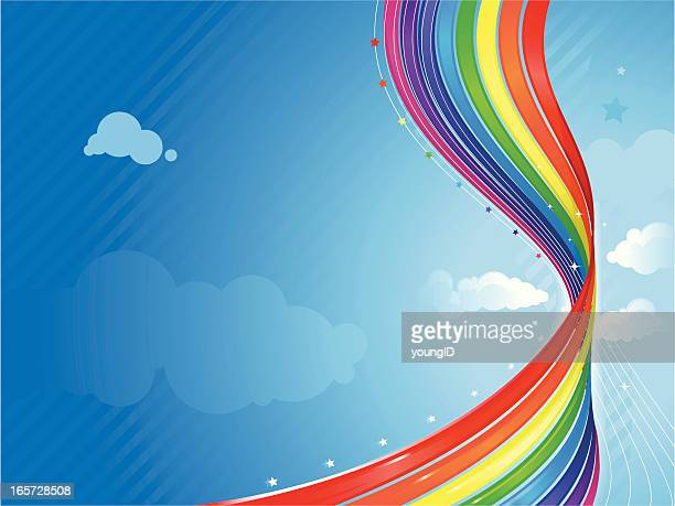 abstract rainbow background - twisted stock illustrations, clip art, cartoons, & icons