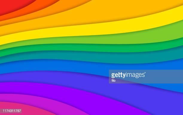 abstrakte regenbogen bunt geschichteten hintergrund - regenbogen stock-grafiken, -clipart, -cartoons und -symbole