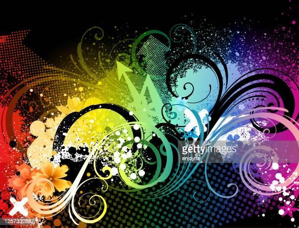 抽象的な虹のグランジのイラスト - lgbtプライド月間点のイラスト素材/クリップアート素材/マンガ素材/アイコン素材