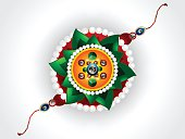 abstract raksha bandhan background with rakhi