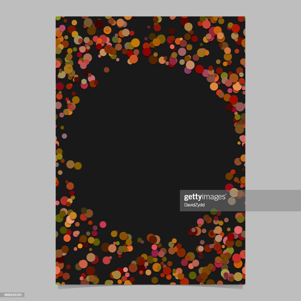 abstract random dot design page template blank poster border graphic