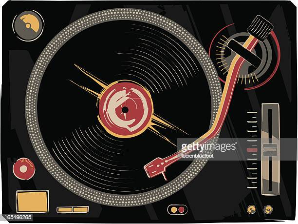 abstract record deck - deck stock illustrations