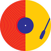 Abstract Record Playing