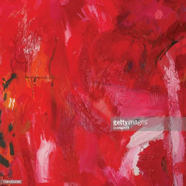 abstrakt rot acryl-gemälde - erotikbilder stock-grafiken, -clipart, -cartoons und -symbole