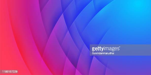 abstract red and blue waves vector background - purple background stock illustrations