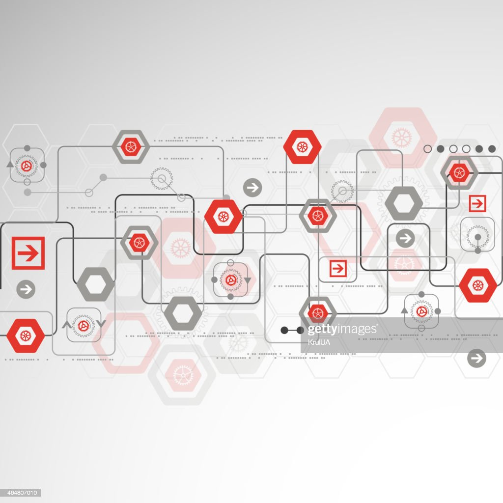 Abstract red and gray technology background