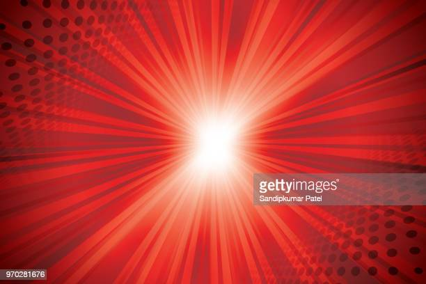 abstract red background - sunbeam stock illustrations