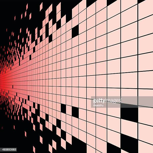 abstract red check style data technology background