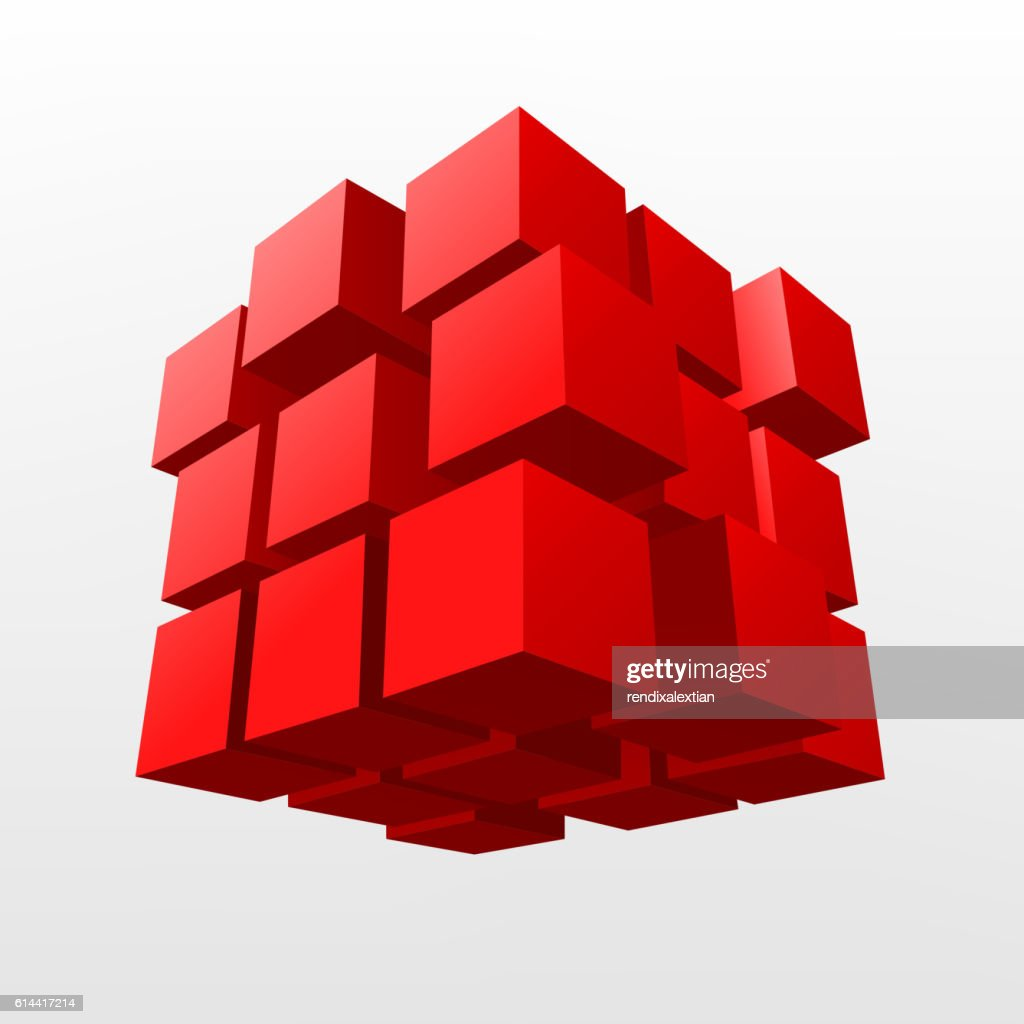 Abstract Red cube