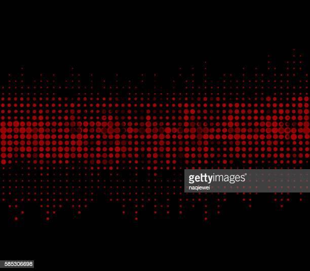 Abstrakte Muster Hintergrund mit roten Punkten