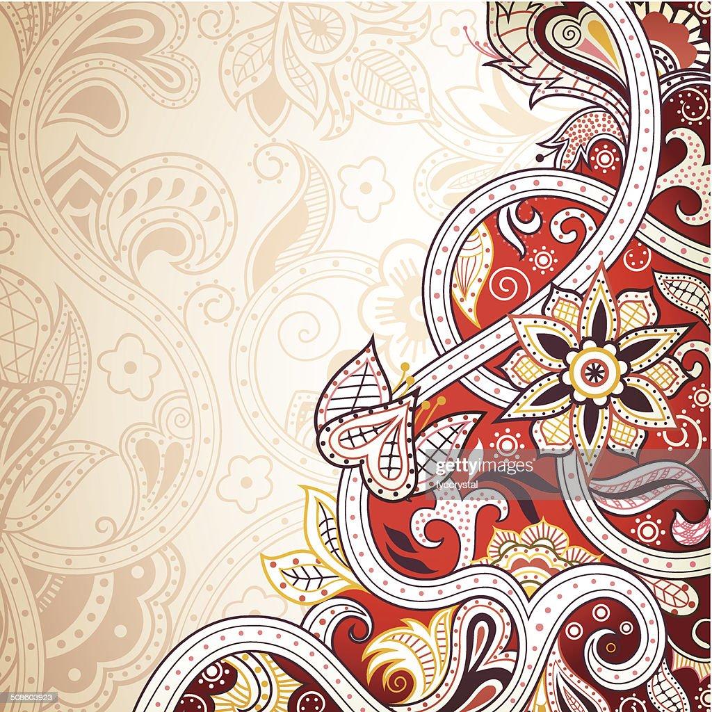 Fondo Floral abstracto rojo : Arte vectorial