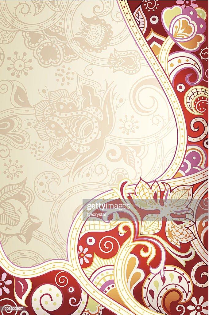 Floral abstracto rojo : Arte vectorial