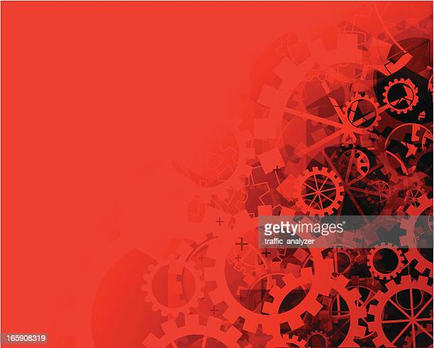 abstract red gears background - gearshift stock illustrations, clip art, cartoons, & icons