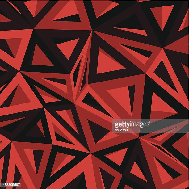 abstract red geometry pattern background
