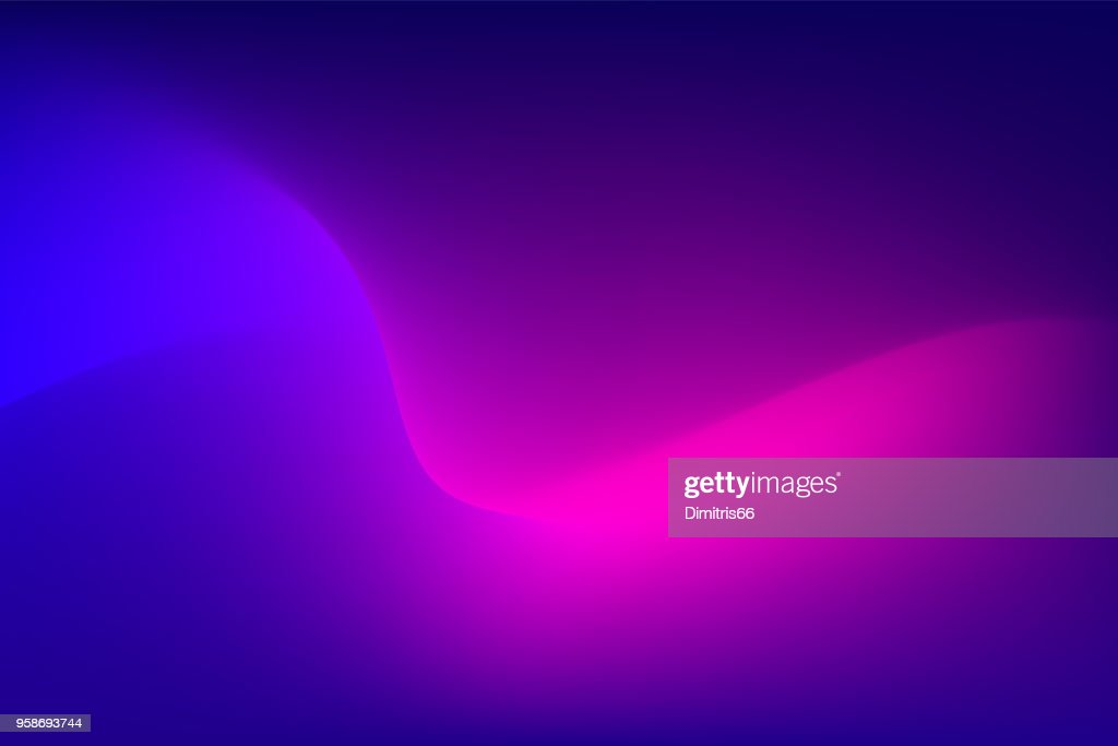 Abstract red light trail on blue background : Stock Illustration