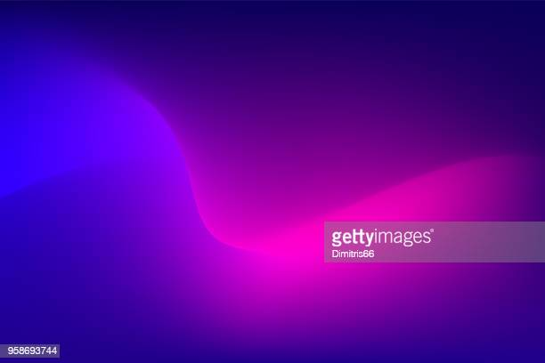 abstract red light trail on blue background - wireless technology stock illustrations