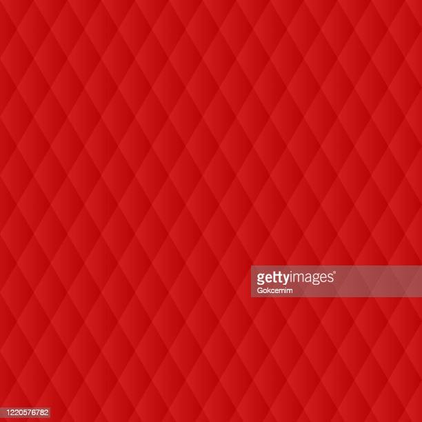 abstract red polygonal rhombus background. - quilted stock illustrations