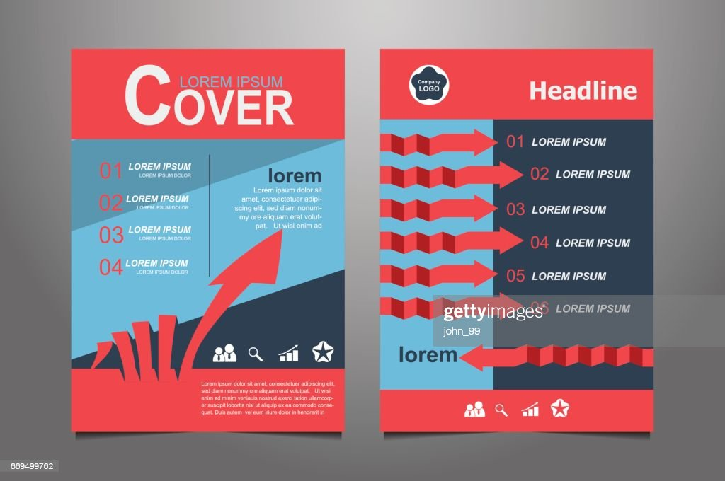 abstract red presentation book cover design templates ベクトルアート