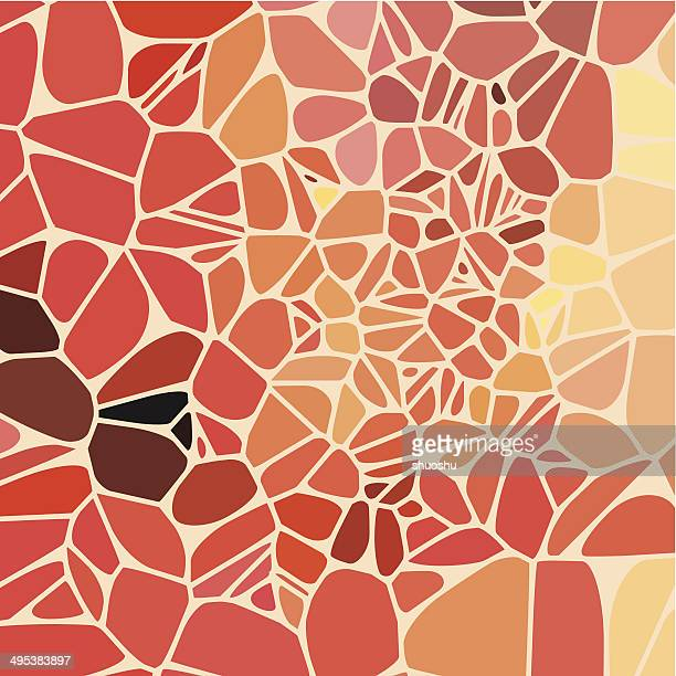 abstract red speckle shape background - printout stock illustrations
