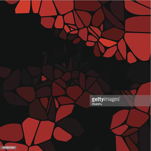 abstract red speckle shape with black background