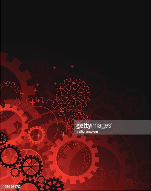 abstract red technical background - gearshift stock illustrations, clip art, cartoons, & icons