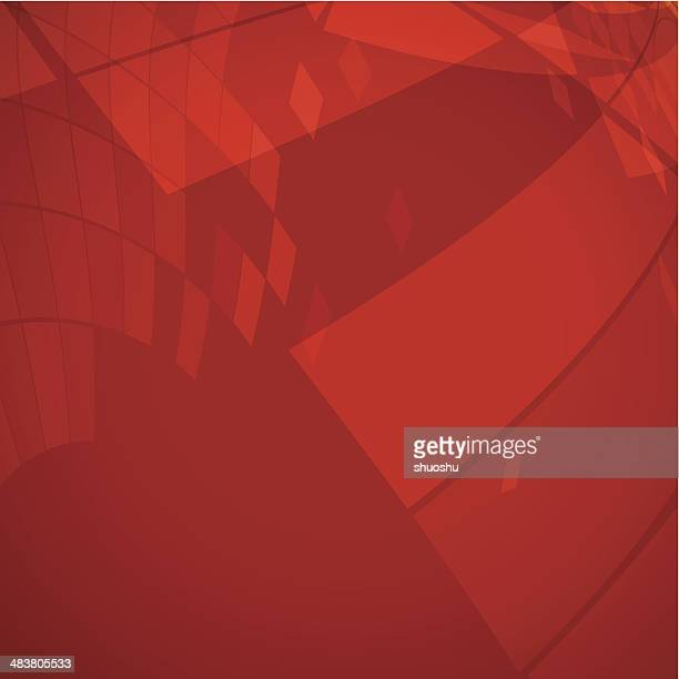abstract red transparency shape background