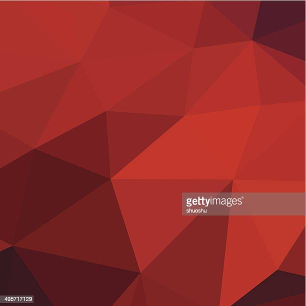 abstract red triangle pattern background