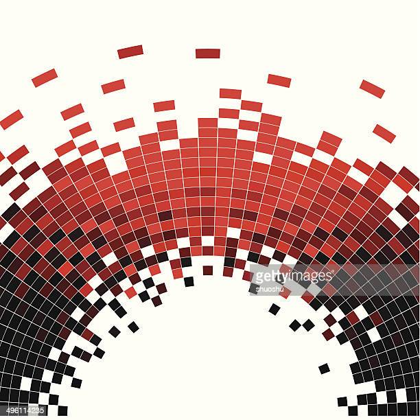 Abstrakt Rot wave Muster background-Technologie