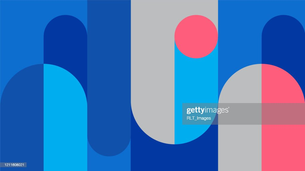 Abstract retro midcentury geometric graphics : stock illustration